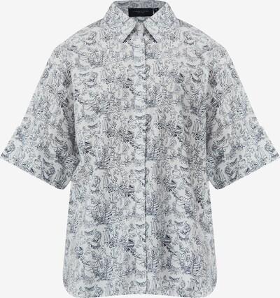 Finn Flare Kurzarm-Bluse in weiß, Produktansicht