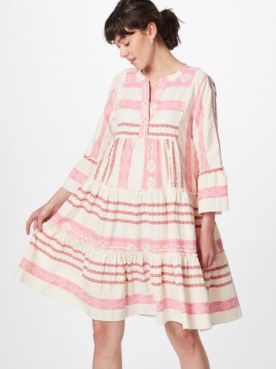 Flowers for Friends Kleid in beige / pink / pitaya, Modelansicht