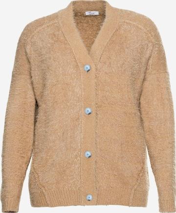 SHEEGO Kardigan w kolorze brązowy