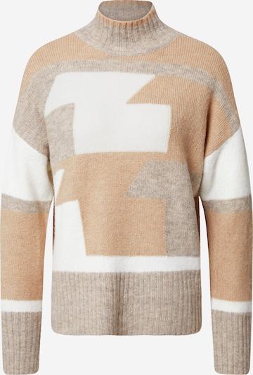 Megztinis iš VILA , spalva - smėlio / šviesiai ruda / balta, Prekių apžvalga