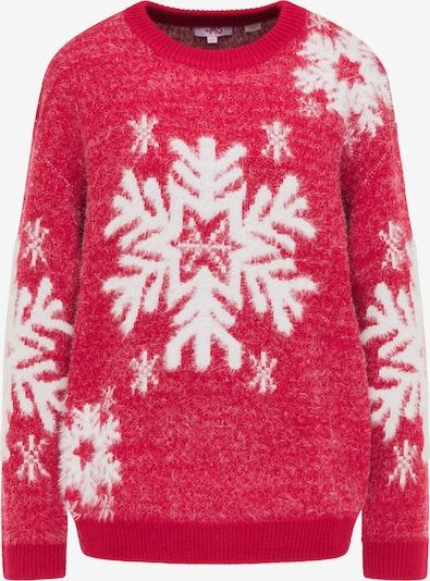 MYMO Pullover in hellrot / weiß, Produktansicht