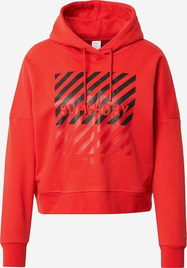 Superdry Športna majica | rdeča / črna barva, Prikaz izdelka