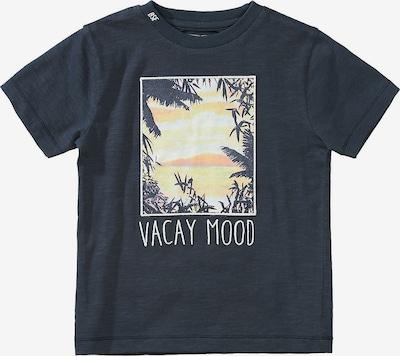 BASEFIELD Camiseta en azul noche / amarillo claro / melocotón / blanco, Vista del producto