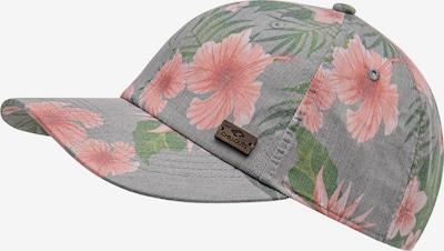 chillouts Cap in grau / grün / pink, Produktansicht