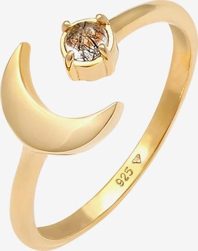 ELLI Ring Astro, Halbmond in gold, Produktansicht