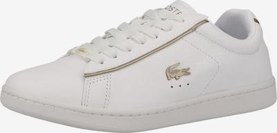 LACOSTE Sneaker 'Carnaby' in gold / weiß, Produktansicht