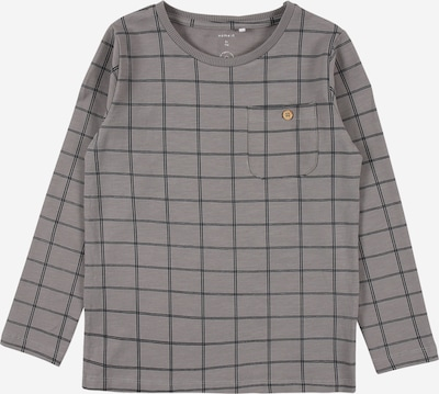 NAME IT Shirt 'Simo' in grau / schwarz, Produktansicht