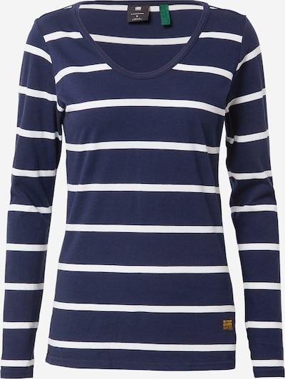 G-Star RAW T-shirt 'Core' en bleu / blanc: Vue de face
