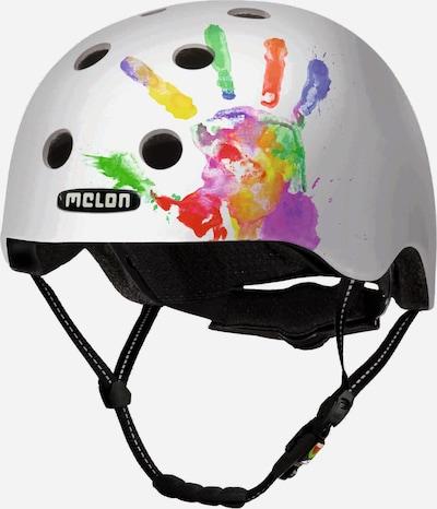 Melon Helm 'Handprint' in mischfarben / weiß, Produktansicht