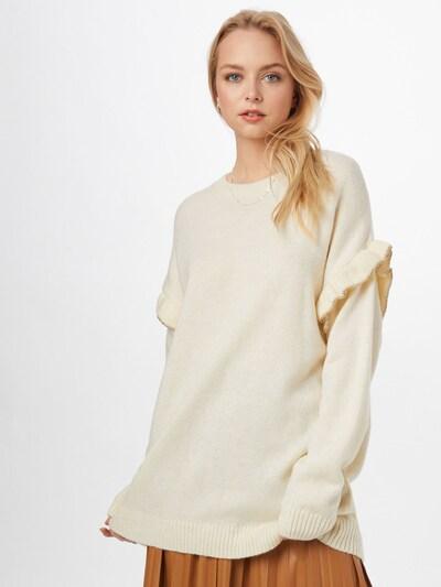 DeFacto Širok pulover   zlata / bela barva: Frontalni pogled