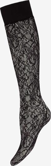 Wolford Chaussettes montantes 'Helena' en gris / noir, Vue avec produit