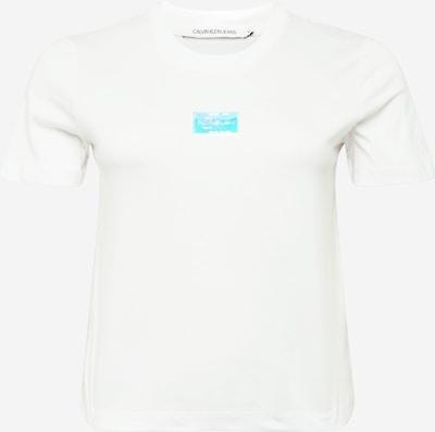 Calvin Klein Jeans Curve T-shirt en blanc, Vue avec produit