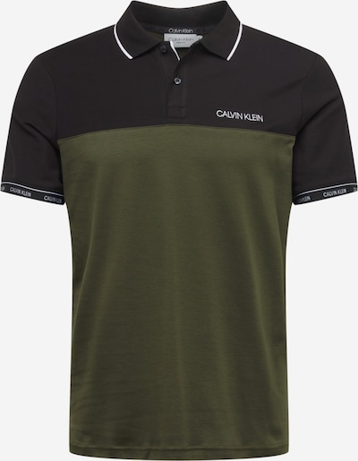 Calvin Klein Shirt in de kleur Olijfgroen / Zwart / Wit, Productweergave