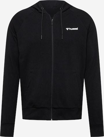 Hummel Sports sweat jacket in Black
