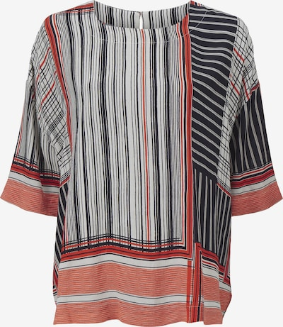Masai Blouse in de kleur Sinaasappel / Rood / Zwart / Wit, Productweergave