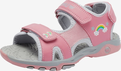 myToys-COLLECTION Sandale 'Connar' in grau / hellpink / weiß, Produktansicht