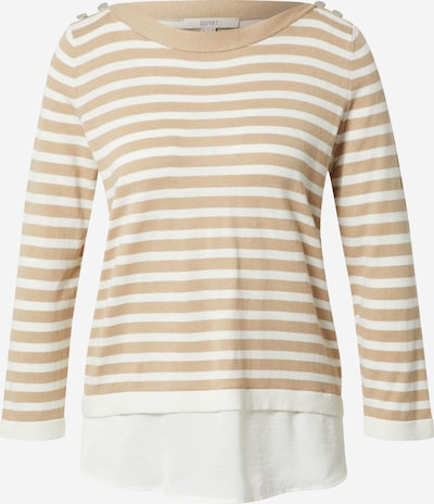 ESPRIT Sweater in Sand / White, Item view