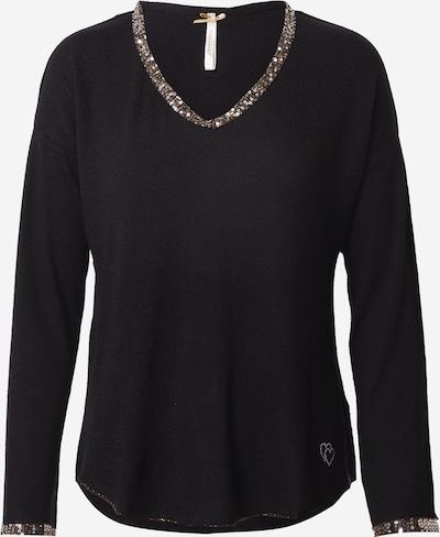 Key Largo Тениска 'NIGHT' в розово злато / черно, Преглед на продукта