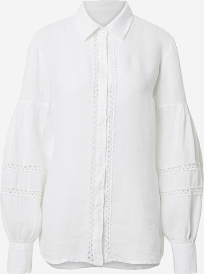 120% Lino Blouse in de kleur Wit, Productweergave