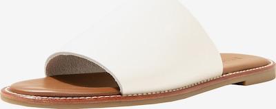 INUOVO Pantoletten in braun / weiß, Produktansicht
