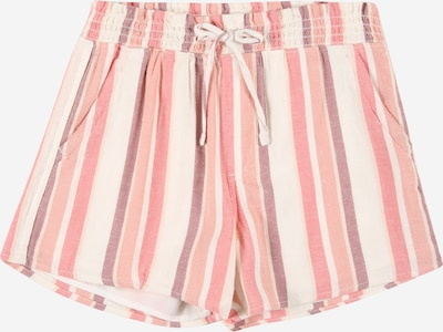 Pantaloni Abercrombie & Fitch pe roz / rosé / alb, Vizualizare produs
