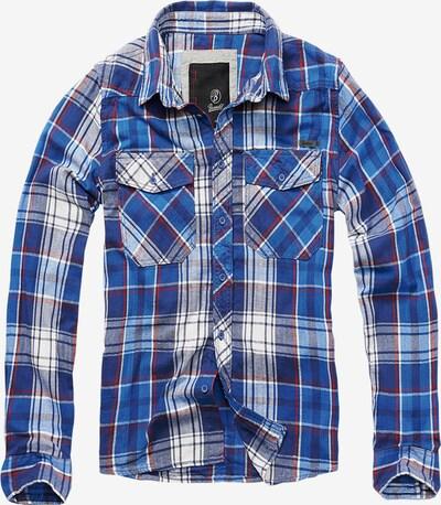 Brandit Hemd in blau / navy / feuerrot / weiß, Produktansicht