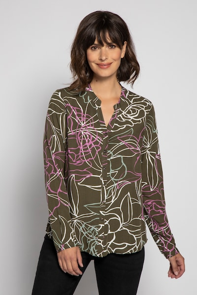 Gina Laura Bluse in khaki, Modelansicht