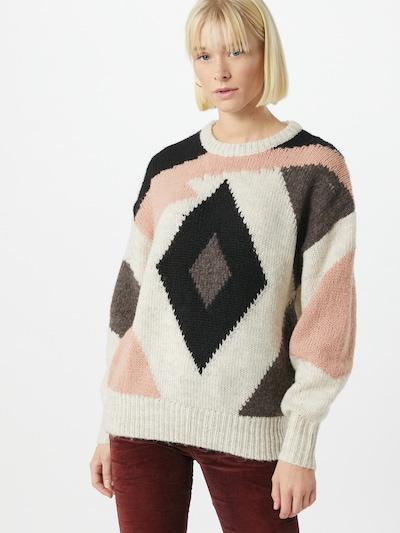 VILA Trui in de kleur Zalm roze / Zwart / Eierschaal, Modelweergave