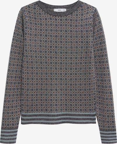 MANGO Pullover 'Nico' in pastellblau / grau / pastellorange, Produktansicht