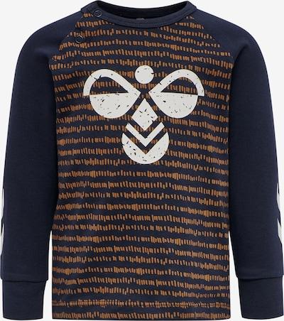 Hummel Functioneel shirt in de kleur Indigo / Donkeroranje / Wit, Productweergave