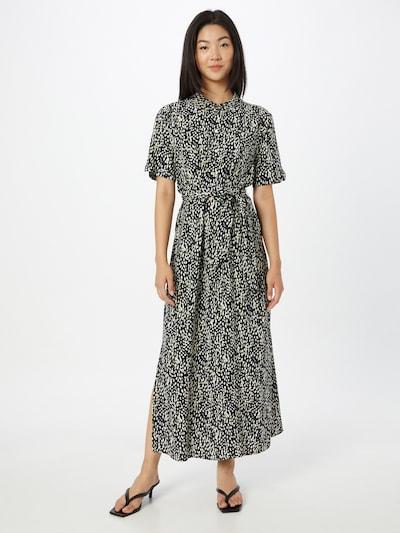 s.Oliver BLACK LABEL Kleid in azur / gelb / schwarz / weiß: Frontalansicht