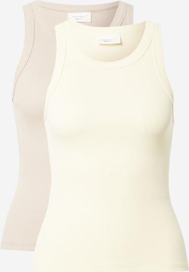 Gina Tricot Top u svijetlobež / pastelno žuta, Pregled proizvoda