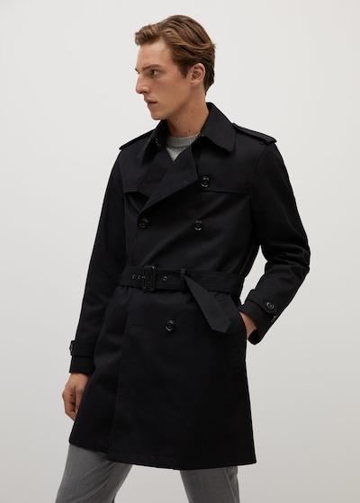 MANGO MAN Płaszcz przejściowy w kolorze czarnym, Podgląd na modelu(-ce)