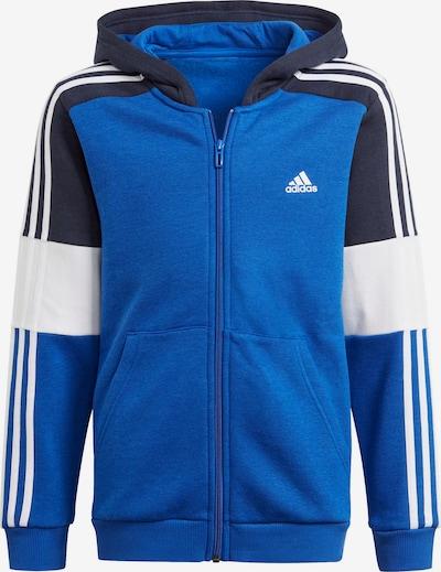 ADIDAS PERFORMANCE Sweatjacke in nachtblau / royalblau / weiß, Produktansicht