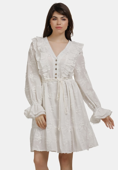 myMo NOW Sommerkleid in weiß: Frontalansicht