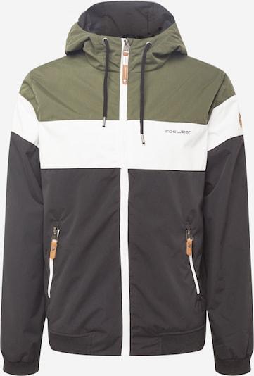 Ragwear Tussenjas 'Jayce' in de kleur Olijfgroen / Zwart / Wit, Productweergave