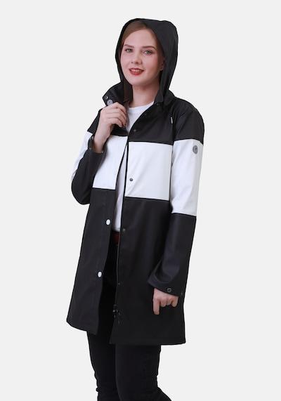 Dingy Rhythm Of The Rain Tussenmantel 'Emily' in de kleur Zwart / Wit, Modelweergave