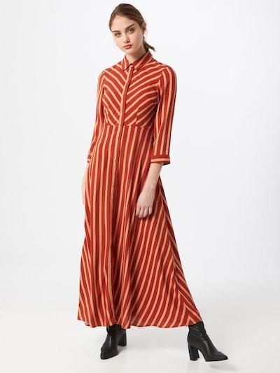 Y.A.S Kleid 'Savanna' in beige / rostbraun, Modelansicht