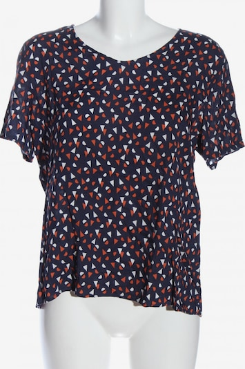 SEIDENSTICKER Kurzarm-Bluse in M in blau / hellorange / weiß, Produktansicht
