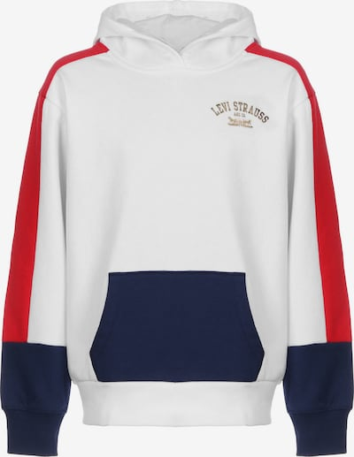 LEVI'S Sweatshirt 'LVG Color Block' in navy / gold / rot / weiß, Produktansicht