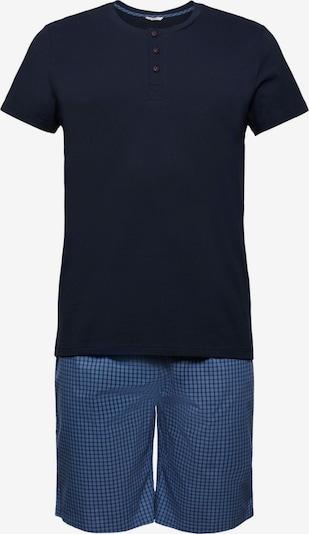 ESPRIT Pyjama kort in de kleur Blauw / Nachtblauw, Productweergave
