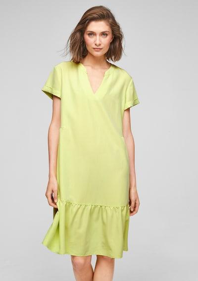 s.Oliver BLACK LABEL Kleid in limette, Modelansicht