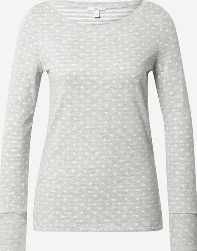 EDC BY ESPRIT Shirt 'Noos' in hellgrau / weiß: Frontalansicht