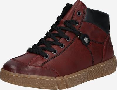 bordó / borvörös RIEKER Fűzős cipő, Termék nézet