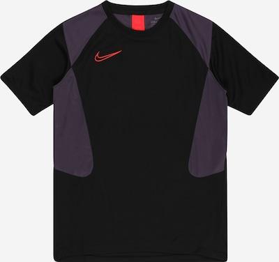 NIKE Sporta krekls 'Academy' tumši lillā / gaiši sarkans / melns, Preces skats