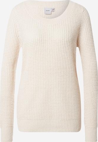 ICHI Sweter 'ODANSA' w kolorze beżowy