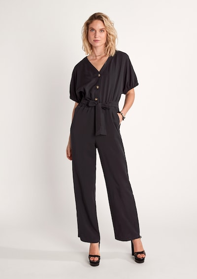 COMMA Jumpsuit in Black: Frontal view