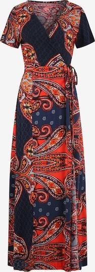 LASCANA Jurk 'LS paisley wrap maxi dre' in de kleur Navy / Sinaasappel, Productweergave