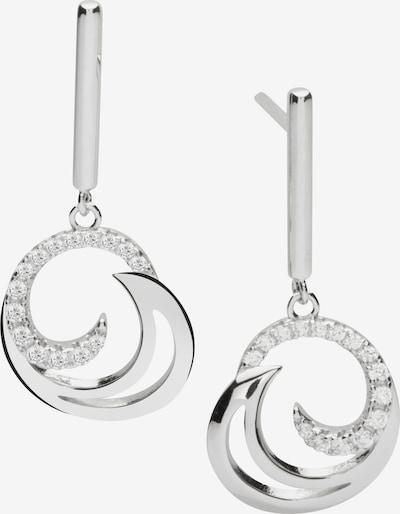 Nana Kay Ohrstecker 'Swinging Silver' in silber / weiß, Produktansicht