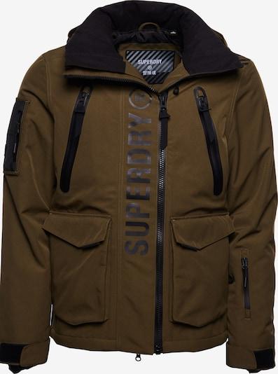 Superdry Outdoorjas in de kleur Grijs / Olijfgroen / Zwart, Productweergave